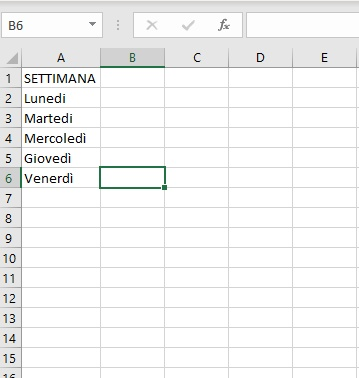 Elenco a discesa Excel - Pagina Opzioni