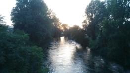 Cantico dei Cantici. La corrente delle acque del fiume Nera a Cospea Terni Umbria Italia