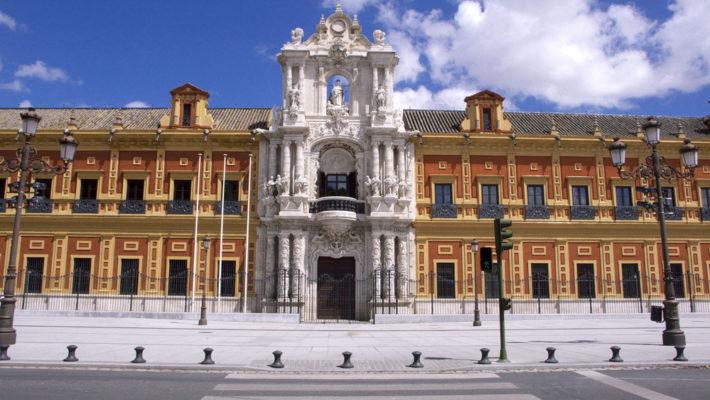 Palacio de San Telmo, sede da Presidencia da Junta de Andalucía. Fotografía: Jl FilpoC