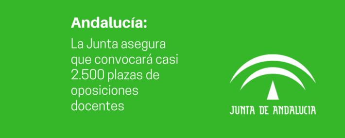 """La Junta de Andalucía asegura que será """"valiente"""" y convocará casi 2.500 plazas de oposiciones docentes"""