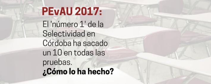 El estudiante con mejor nota de la Selectividad en Córdoba nos dice cómo lo ha conseguido