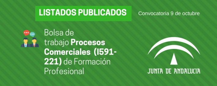 FP Procesos Comerciales (I591-221): lista admitidos bolsa de trabajo de 9 de octubre (Andalucía) - Academia CLAUSTRO