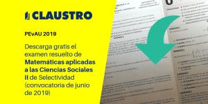 Selectividad: examen resuelto de Matemáticas aplicadas a las Ciencias Sociales II (convocatoria de junio de 2019, Andalucía)