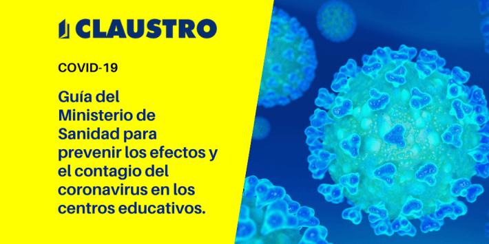 Guía para prevenir el cononavirus en centros educativos - Academia CLAUSTRO