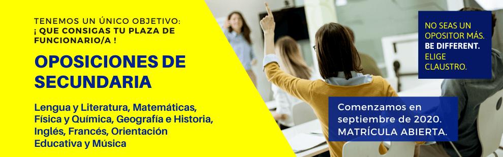 Cursos de oposiciones de Secundaria en Andalucía - Academia CLAUSTRO en Sevilla