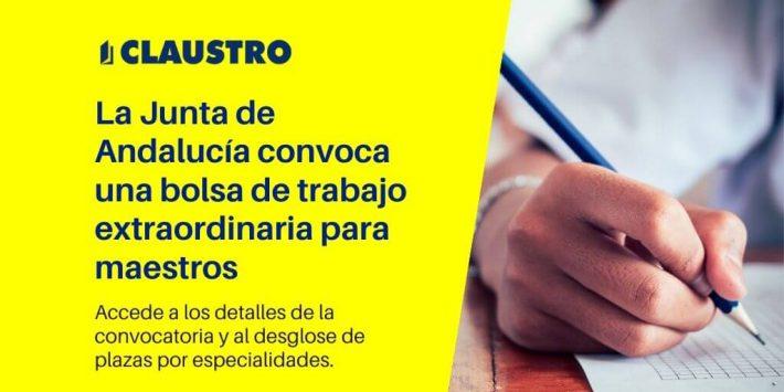 Convocatoria extraordinaria bolsas docentes para varias especialidades del Cuerpo de Maestros en Andalucía