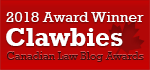 2018 Canadian Law Blog Awards Winner