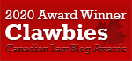 2020 Canadian Law Blog Awards Winner