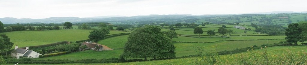 Vale of Clwyd, from the Canolfan.