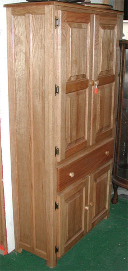 The Original Amish Oak Pantry Cabinet By Clayborne S Amish Furniture Of Sc
