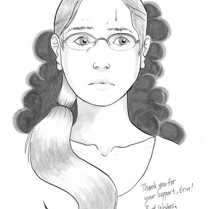 February 2016, sketch of depressed character #10 (depression comix), won by Erin.