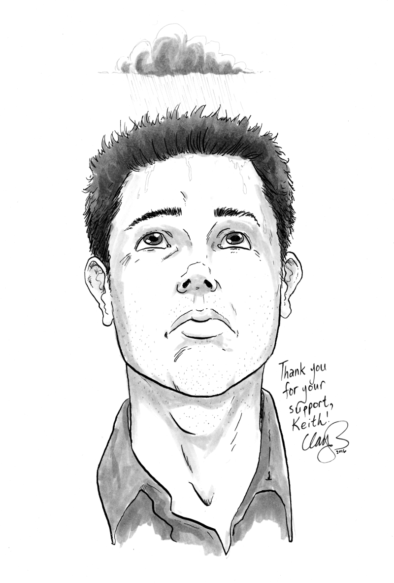 March 2016 sketch of depressed character #1 (depression comix), won by Keith Gottschalk.