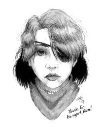 May 2017 sketch of Ishida Yuko (Sexy Losers) won by Diane.