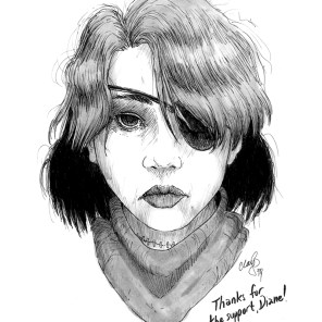 May 2017 sketch of Ishida Yuko (Sexy Losers) won by Diane.