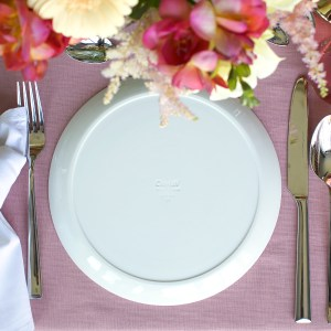 ontbijtbord Clayish wit porselein