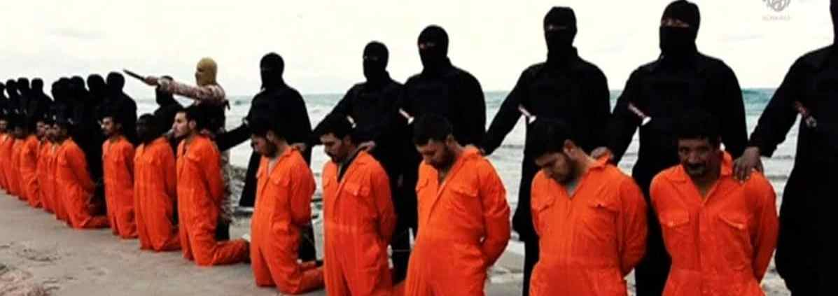 Photo of Christians on knees in Syria about to be beheaded by Isis. God uses suffering to prove us.