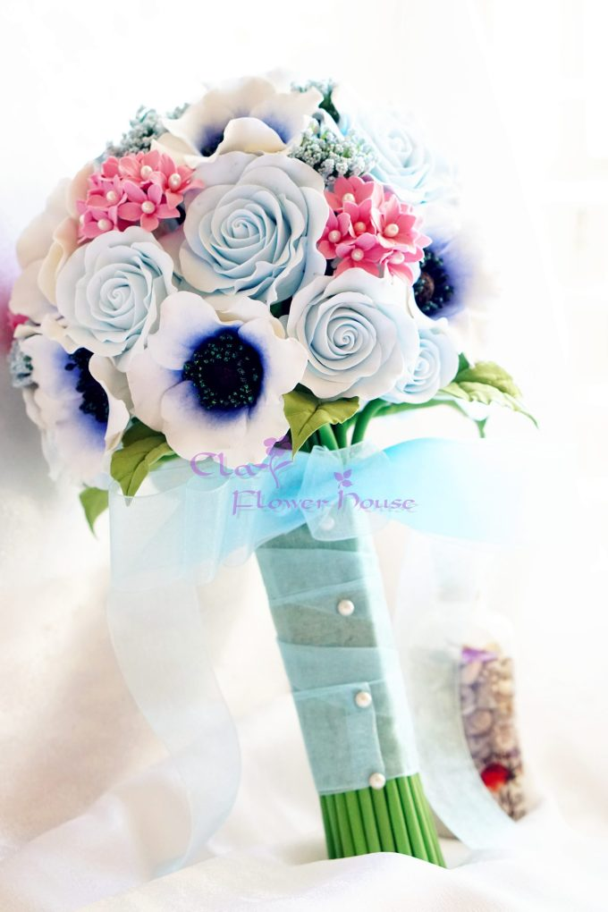 Clay Wedding Bouquets
