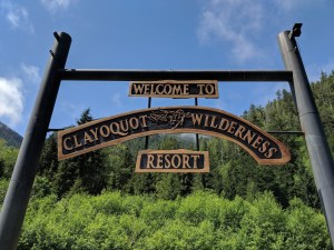 Welcome Sign at Clayoquot Wilderness Resort