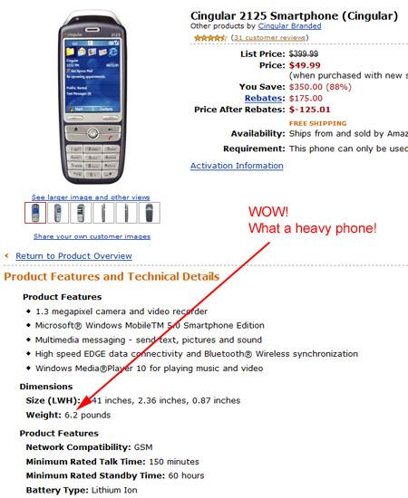 Cingular 2125 Smartphone!