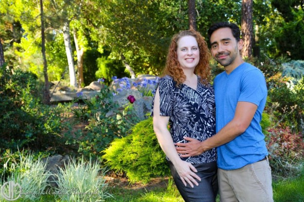 loving couple in a garden