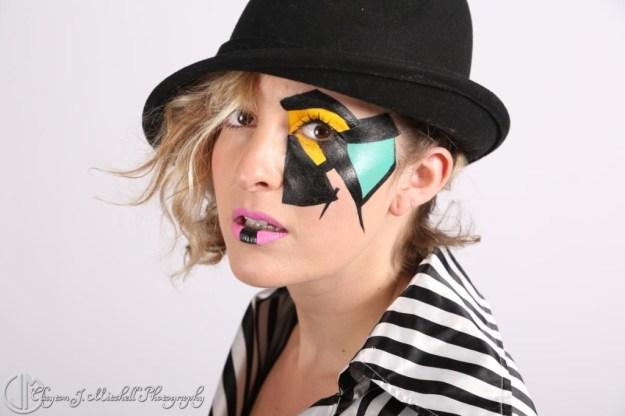 A Clockwork Orange inspired makeup for Halloween
