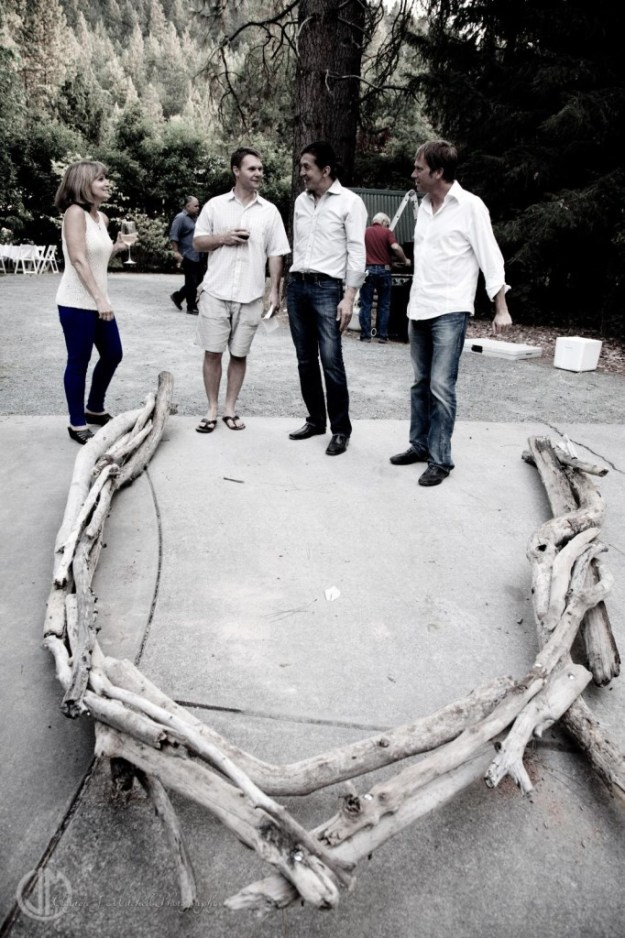 making a driftwood arch