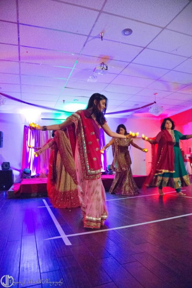 dancing at Diwali celebration