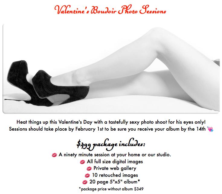 boudoir photography specials