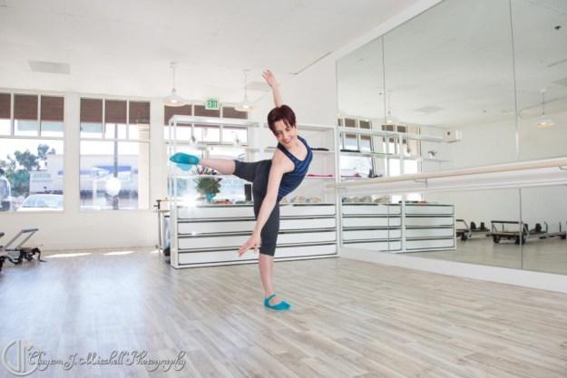 dancer in the studio