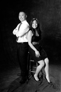 Black and White Brother Sister formal studio portrait