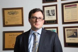 Lawyer Head Shot in Office