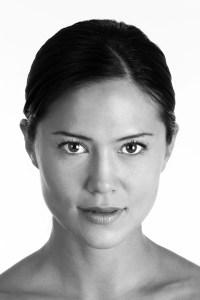Hard stare black and white dramatic headshot
