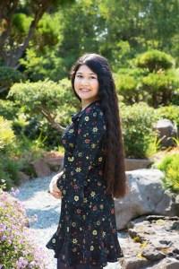 Senior portrait at Hayward Japanese Garden