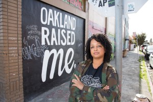 Black woman posing in Oakland