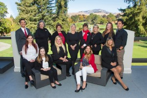 Insurance Team portrait at Crow Canyon Country Club