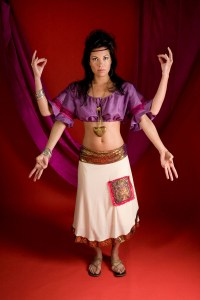 Indian Goddess inspired shoot with mudras