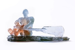 Resin Sculpture of man rowing