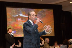 Emcee at a fundraiser