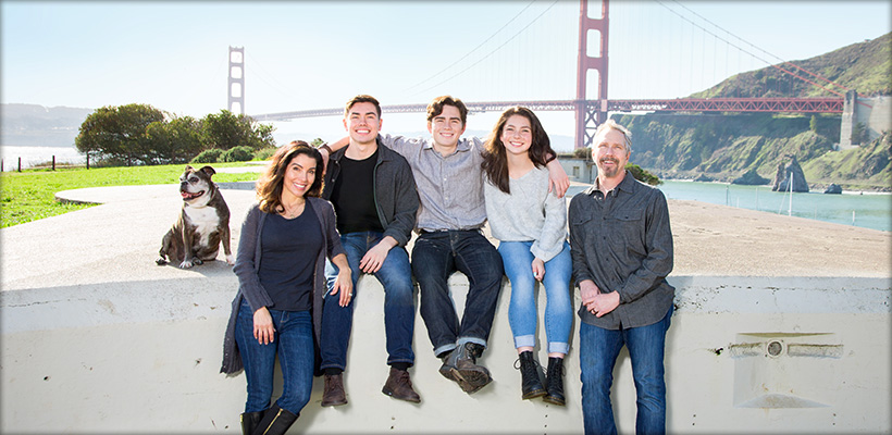 Family Portrait at Fort Baker in Sausalito