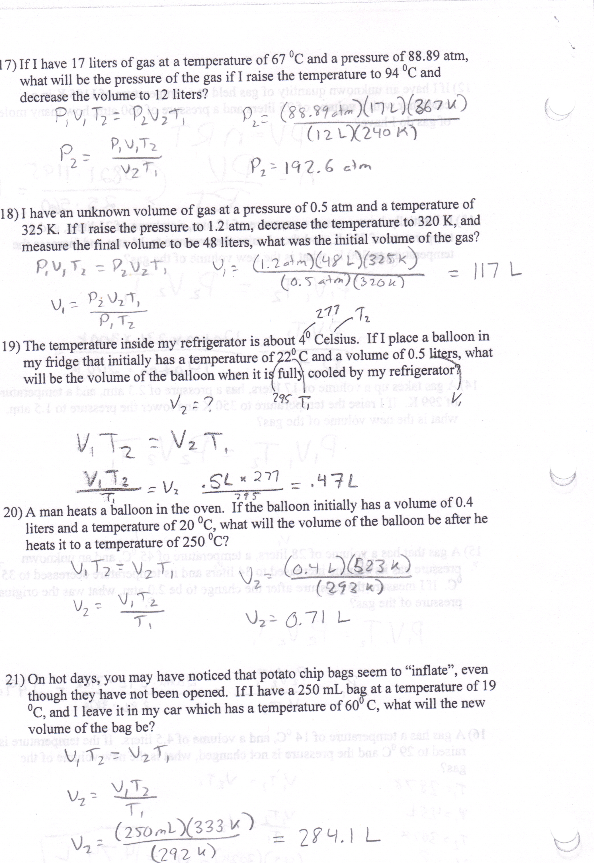 Printables Of Boyle S Law And Charles Law Gizmo Worksheet