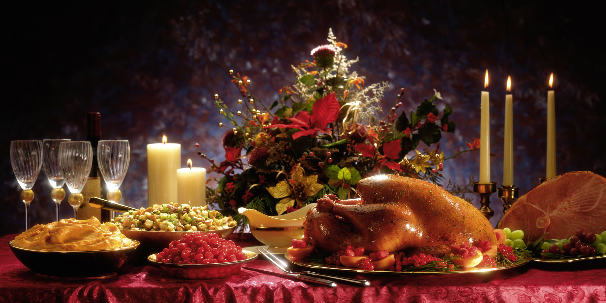 Thanksgiving Turkey Dinner Background
