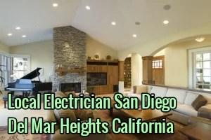 Local Electrician San Diego Del Mar Heights California