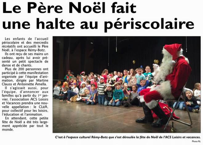 L'article du RL du 19/12/2015