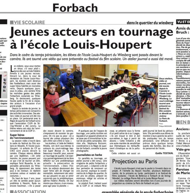 L'article du RL du 06/02/2016