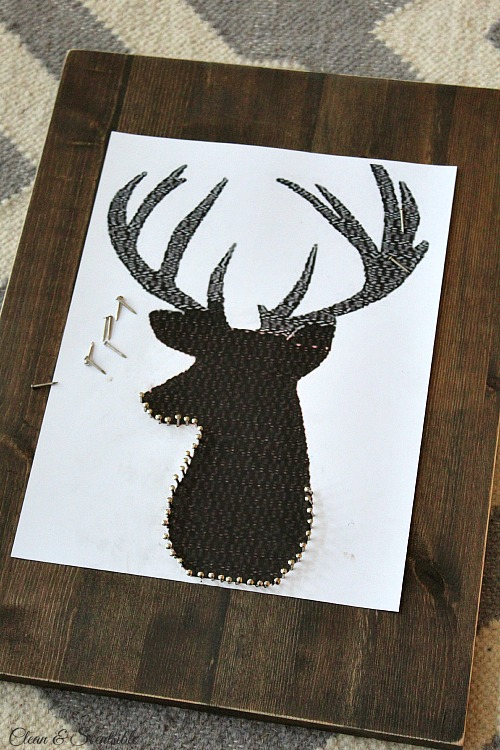 This Reindeer String Art Is The Perfect Addition To Your Rustic Christmas Decor