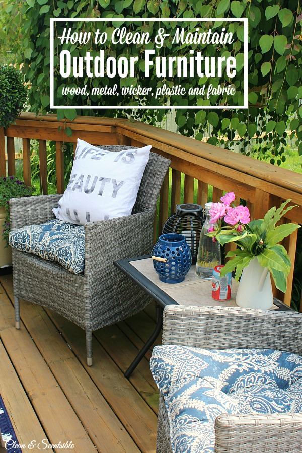 how to clean patio furniture clean