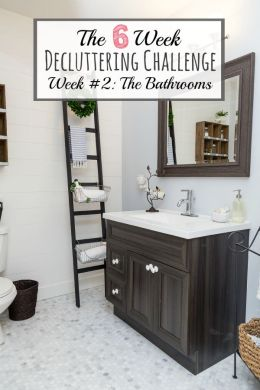 How to Declutter the Bathroom   Clean and Scentsible How to declutter your bathroom  Tips  ideas  and a free printable to get