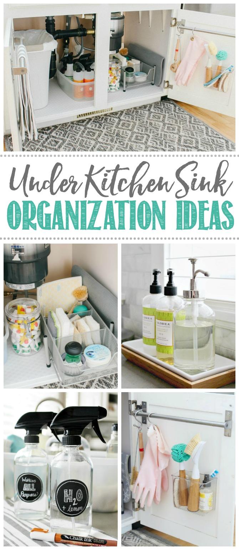 under kitchen sink organization ideas