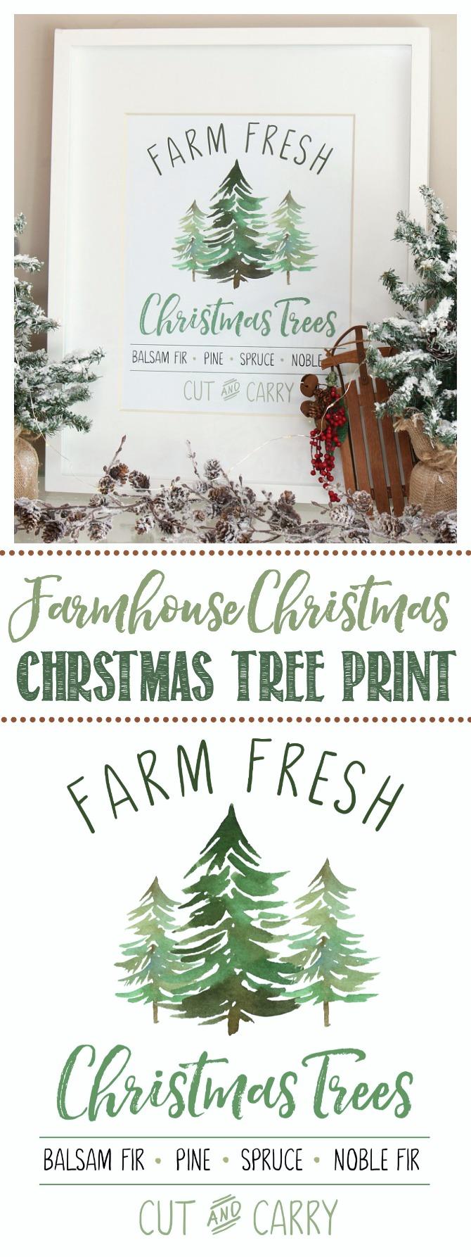 Farm Fresh Christmas Trees Free Christmas Printable Clean
