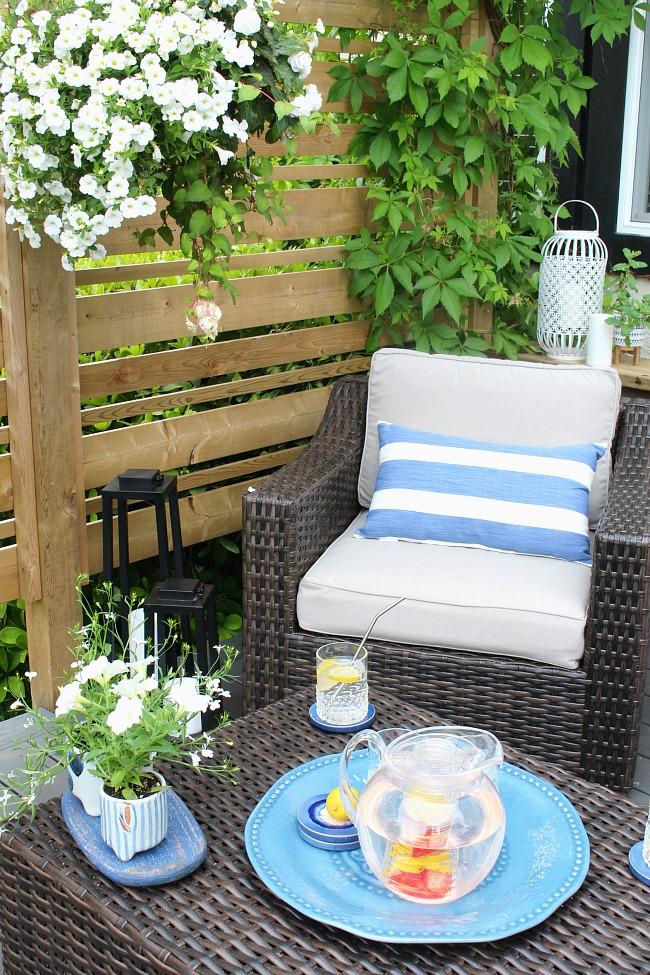 backyard patio creating a relaxing